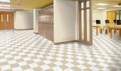 Vinyl flooring for school